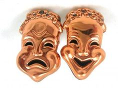 These are great for the true thespian!  Surprise your favorite lover of the arts with a gift of the Comedy Tragedy Masks.   Vintage Renoir Comedy Tragedy Masks Cufflinks  Melpomene is the muse of tragedy and Thalia is the muse of comedy.