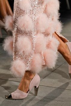 """dress-this-way: """"Chanel Fall 2012 Haute Couture """" Colors ~ Pink and Silver Couture Mode, Style Couture, Couture Fashion, Runway Fashion, Fashion Shoes, Womens Fashion, Chanel Fashion, London Fashion, Dress Fashion"""
