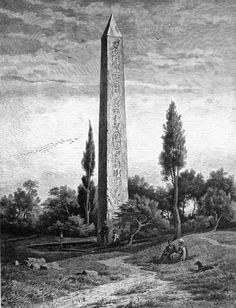 Obelisk of the Temple of the Sun, at the old Heliopolis (1878) ❤❤❤ #egypt #throwbakthursday Source https://commons.wikimedia.org/wiki/File:Obelisk_of_the_Temple_of_the_Sun,_at_the_old_Heliopolis_(1878)_-_TIMEA.jpg