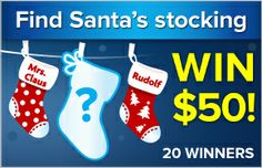 WIN $50 from Purex! Find Santa's missing stocking hidden on Purex.com for a chance to be one of twenty winners.