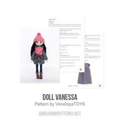 Doll Vanessa amigurumi pattern by VenelopaTOYS