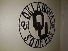 "36"" OU SOONERS OKLAHOMA METAL ART WESTERN HOME WALL DECOR NEW BRONZE LARGE SIZE"