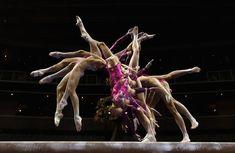 McKayla Maroney on the balance beam at the gymnastic trials