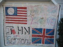 31 yrs ago was the murder of John Lennon, friends of mine and myself made this banner for Vigil at Central pk.