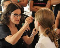 Lisa Eldridge backstage at Matthew Williamson, SS14 for Benefit