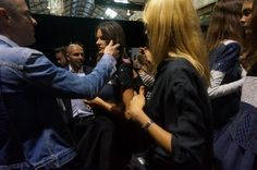 BACKSTAGE AT ALEX PERRY MBFWA 2014 'VARSITY' COLLECTION - ALESSANDRA AMBROSIO