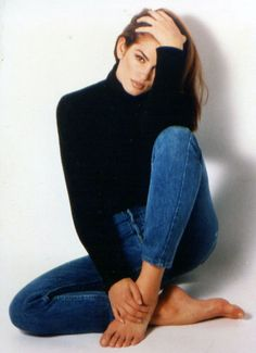 80s-90s-supermodels: Cindy Crawford, early 90s
