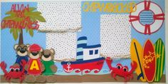 365 Days Of Cricut: #58 Alvin and the Chipmunks scrapbook page