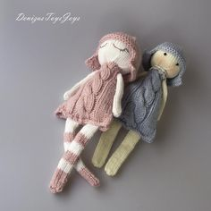 Naptime dolls.The finished doll is approximately 13,8- 15,75 inches (35-40 cm) tall. The toy is knitted round and that is why the pattern is recommended for Advanced Beginner Knitters. This is the pattern with variations of 2 hairstiles and legs.The pattern includes instruction and pictures how to make this doll and hairstyle + unlimited email help from me in case you get stumped.Materials needed • 4 double-pointed needles in a size suitable for the yarn weight you are using. I recommend…