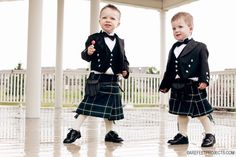 Wee boys in kilts! So precious!!