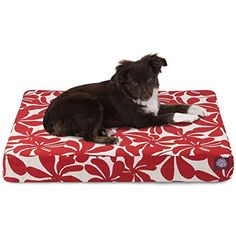 "Majestic Pet Red Plantation Orthopedic Memory Foam Rectangle Dog Bed, 27""x20"", Small *** You can find out more details at the link of the image. (This is an affiliate link) #DogBeds"