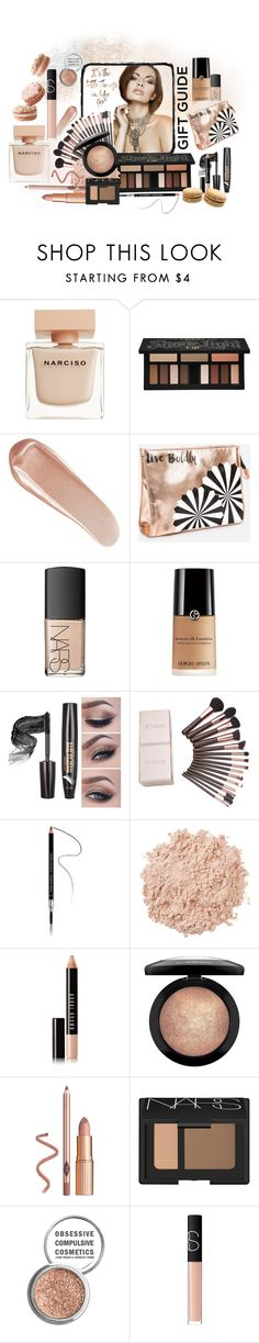 """Holiday Gift Guide: Beauty Faves"" by candy-crystal ❤ liked on Polyvore featuring beauty, Narciso Rodriguez, Kat Von D, NARS Cosmetics, Ashley Stewart, Givenchy, La Mer, Bobbi Brown Cosmetics, MAC Cosmetics and Obsessive Compulsive Cosmetics"