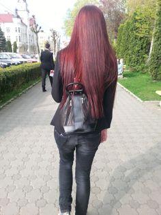 My freshly dyed hair (◠ω◠✿)  Love it!