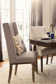 Beige Leather Dining Chairs Dining Room Traditional With Oversized Beauteous Beige Leather Dining Room Chairs Design Decoration