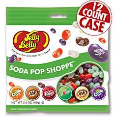 Jelly Belly Soda Pop Shoppe jelly beans in 3.5 oz bags. Real soda flavor. Soda