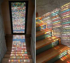 Stained-Glass Door Made Of Pantone Swatches