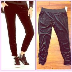 Juicy couture black glittery joggers Black glitter joggers Juicy Couture Pants Track Pants & Joggers