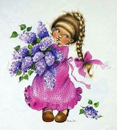 Art Zsuzsa Fuzesi _ май 1984 Cute Clipart, Cute Illustration, Disney Characters, Fictional Characters, Clip Art, Dolls, Retro, Disney Princess, Artist