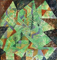 Wald Bau (forest-construction), 1919, by Paul Klee (1879-1940), mixed media chalk, 27x25 cm