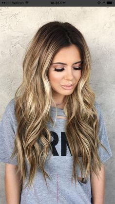 Trendy Hair Highlights Bronde is part of Trendy Summer Hair Colors That Everyone Is Wearing - Trendy Hair Highlights Picture Description Bronde Hair Color Balayage, Hair Highlights, Ombre Hair Color, Bronde Bayalage, Long Bronde Hair, Bronde Haircolor, Hair Color And Cut, Hair Color Ideas, Great Hair