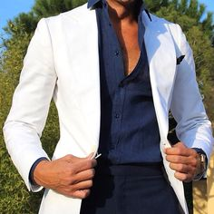 Smart Casual Suit, Business Casual Attire For Men, Blazers For Men Casual, Gents Fashion, Suit Fashion, Blazer Fashion, Stylish Mens Outfits, Dapper Men, Mens Clothing Styles