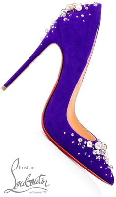 Brilliant Luxury ♦Christian Louboutin 'Candidate Veau Velours'