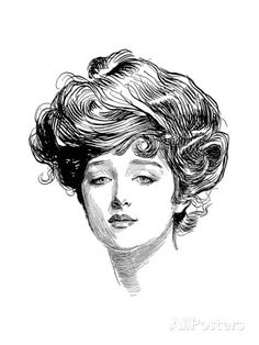 Gibson Girl, 1900 Giclee Print by Charles Dana Gibson at AllPosters.com