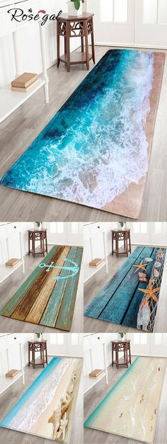 Free shipment worldwide, Rosegal Beach Starfish Conch Pattern Flannel Skidproof Mat | This rug can be used indoor or outdoor - Fashionable beach style floor mat, non-slip, soft and comfortable - Perfect for living room rug, dining room rug, bedroom area rug and all area's | #rosegal #homedecor #summer #decoration #home #rug #mat
