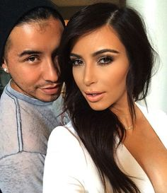 Kim Kardashian Makeup, makeuo artist Etienne Ortega