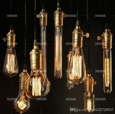 Edison bulb lampada retro lamp incandescent ampoule vintage For Decor Filament Bulb Click visit to buy Copper Lamps, Brass Pendant Light, Cheap Pendant Lights, Brass Lamp, Industrial Style Lighting, Edison Lighting, Vintage Lighting, Bar Lighting, Edison Bulbs