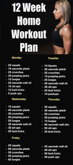 12 Week Home #Workout Plan, No Gym Involved