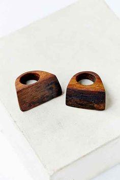 Farmhaus Chunky Reclaimed Wood Ring