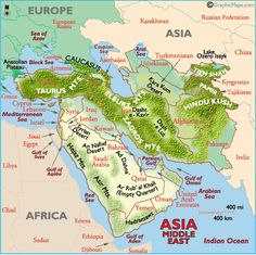 World physical map mountain ranges deserts etc click on each middle east map map of middle east landforms turkey iraq dubai gumiabroncs Images