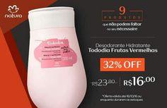 Compre na Rede Natura o desodorante hidratante corporal Tododia frutas vermelhas 200ml com 32% OFF. Promoção válida de 10 a 16/out ou enquanto durarem os estoques.  Produtos que não podem faltar no seu nécessaire Por tempo limitado. Confira