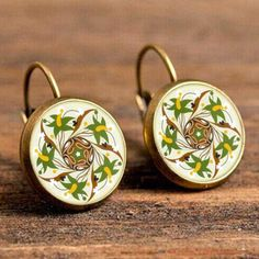Caxybb Hot sell Silver Color Jewelry Mandala Earrings Henna earrings For Women OM Symbol Buddhism Zen Online Shopping India Sell Silver, Lotus Jewelry, Om Symbol, Yoga Accessories, Buddhism Zen, Silver Color, Women's Earrings, Henna, Clock