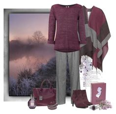 """Gray & Plum"" by love-n-laughter ❤ liked on Polyvore featuring Samoon, Second Nature By Hand, Reed Krakoff, White Stuff, Circus by Sam Edelman, Viktor & Rolf, Swarovski and Nixon"