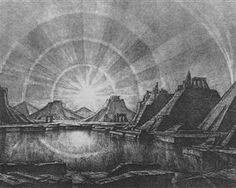 Landscape with lake - Konstantin Bogaevsky