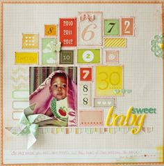 Numbers. can be birthday layout idea