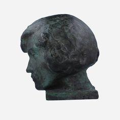 Aaltonen, Wäinö (1894-1966). Sign. W.A. 25cm. Skull, Sign, Sculpture, Statue, Art, Art Background, Kunst, Signs, Sculptures