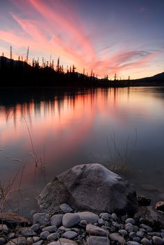 Sunset along the Yellowhead ..by Michael James Imagery