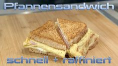 Pans sandwich with ham, cheese and egg - to fall in love with, Bagel Sandwich, Chicken Sandwich, Sandwich Recipes, Sandwich Pictures, Sandwich Packaging, Picnic Sandwiches, Ham And Cheese, Falling In Love, French Toast