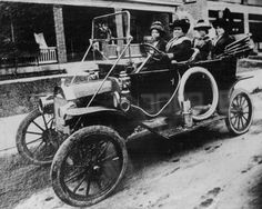 Here's a picture of her around 1916 driving her car, being a millionaire with her girls, NBD. Her products are still available, by the way.