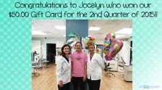 Yayyy Jocelyn!!!  We're so happy you won our 2nd Quarter Gift Card raffle!!  Enjoy your $50.00 Gift Card :)  #IrvineOrthodontics
