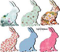 Easter Bunnies by rubyblossom ~ free for personal use