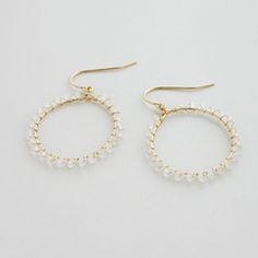 正規販売店♪送料無料♪【RueBelle Designs/ルーベルデザインズ】 Earrings 14k gold filled chain & findings rainbow moonstone カラーCrystal & Gold【楽天市場】