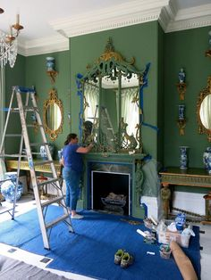 Chinoiserie Dining Room At Long Last The Chinoiserie Room Is Ready To Receive Carolyne #shabbychicporch