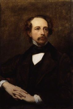 "Dickens painted by Ary Scheffer, 1855. [nb 3] Ary Scheffer - National Portrait Gallery, London [1] ""Charles Dickens,"" oil on canvas, by the French artist Ary Scheffer. 37 1/8 in. x 24 3/4 in. Courtesy of the National Portrait Gallery, London."