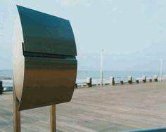 Stainless Steel Modern, Contemporary Vega Galaxy Mailbox  Mailbox Stand