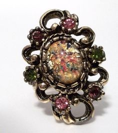 Large Gold Opal Ring  Sarah Coventry Vintage by PopCulturelle, $40.00