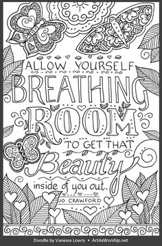 Quote Coloring Pages, Coloring Pages Inspirational, Printable Coloring Pages, Colouring Pages, Adult Coloring Pages, Coloring Sheets, Coloring Books, Mindfulness Colouring, Doodle Quotes